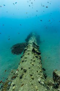 underwater unused pipeline